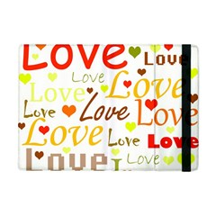 Valentine s Day Pattern Apple Ipad Mini Flip Case by Valentinaart