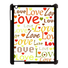 Valentine s day pattern Apple iPad 3/4 Case (Black) by Valentinaart