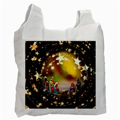 Christmas Crib Virgin Mary Joseph Jesus Christ Three Kings Baby Infant Jesus 4000 Recycle Bag (one Side) by yoursparklingshop