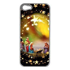Christmas Crib Virgin Mary Joseph Jesus Christ Three Kings Baby Infant Jesus 4000 Apple Iphone 5 Case (silver) by yoursparklingshop