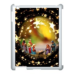 Christmas Crib Virgin Mary Joseph Jesus Christ Three Kings Baby Infant Jesus 4000 Apple Ipad 3/4 Case (white) by yoursparklingshop