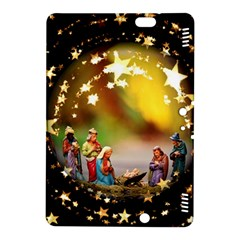 Christmas Crib Virgin Mary Joseph Jesus Christ Three Kings Baby Infant Jesus 4000 Kindle Fire Hdx 8 9  Hardshell Case by yoursparklingshop