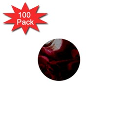 Dark Red Candlelight Candles 1  Mini Buttons (100 Pack)  by yoursparklingshop