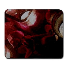 Dark Red Candlelight Candles Large Mousepads by yoursparklingshop