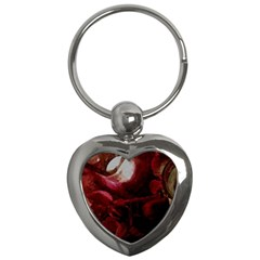 Dark Red Candlelight Candles Key Chains (heart)  by yoursparklingshop