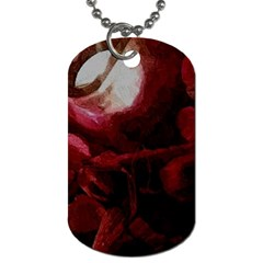 Dark Red Candlelight Candles Dog Tag (one Side) by yoursparklingshop