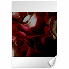 Dark Red Candlelight Candles Canvas 24  X 36  by yoursparklingshop