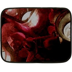 Dark Red Candlelight Candles Fleece Blanket (mini) by yoursparklingshop
