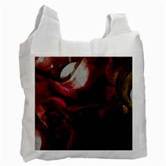 Dark Red Candlelight Candles Recycle Bag (two Side)  by yoursparklingshop