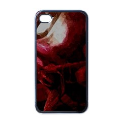 Dark Red Candlelight Candles Apple Iphone 4 Case (black) by yoursparklingshop