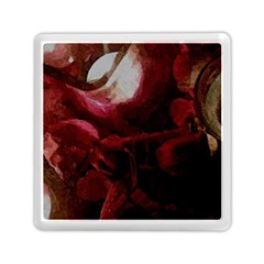 Dark Red Candlelight Candles Memory Card Reader (square)  by yoursparklingshop