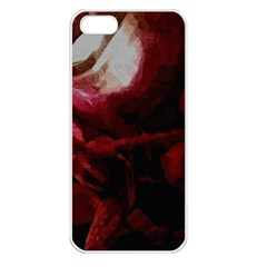 Dark Red Candlelight Candles Apple Iphone 5 Seamless Case (white) by yoursparklingshop