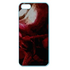 Dark Red Candlelight Candles Apple Seamless Iphone 5 Case (color) by yoursparklingshop