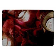 Dark Red Candlelight Candles Samsung Galaxy Tab 10 1  P7500 Flip Case by yoursparklingshop