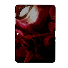 Dark Red Candlelight Candles Samsung Galaxy Tab 2 (10 1 ) P5100 Hardshell Case  by yoursparklingshop