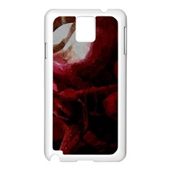 Dark Red Candlelight Candles Samsung Galaxy Note 3 N9005 Case (white) by yoursparklingshop