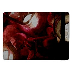 Dark Red Candlelight Candles Samsung Galaxy Tab Pro 12 2  Flip Case by yoursparklingshop