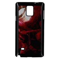 Dark Red Candlelight Candles Samsung Galaxy Note 4 Case (Black) by yoursparklingshop
