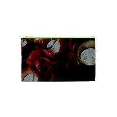 Dark Red Candlelight Candles Cosmetic Bag (xs) by yoursparklingshop