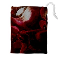 Dark Red Candlelight Candles Drawstring Pouches (xxl) by yoursparklingshop