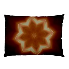 Christmas Flower Star Light Kaleidoscopic Design Pillow Case (two Sides) by yoursparklingshop