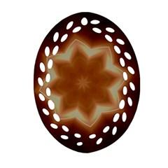 Christmas Flower Star Light Kaleidoscopic Design Oval Filigree Ornament (2 Side)  by yoursparklingshop