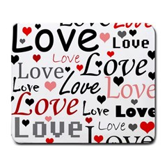 Love Pattern   Red Large Mousepads by Valentinaart