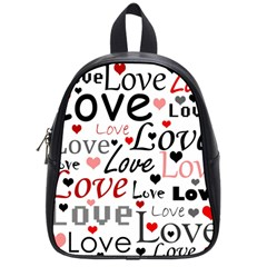 Love Pattern   Red School Bags (small)  by Valentinaart