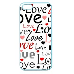 Love Pattern   Red Apple Seamless Iphone 5 Case (color)