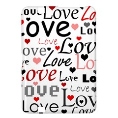 Love pattern - red Kindle Fire HD 8.9  by Valentinaart