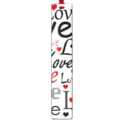 Love Pattern   Red Large Book Marks by Valentinaart