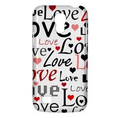 Love Pattern   Red Galaxy S4 Mini by Valentinaart