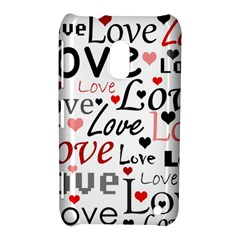 Love Pattern   Red Nokia Lumia 620 by Valentinaart
