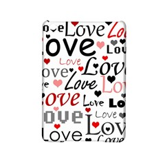 Love Pattern   Red Ipad Mini 2 Hardshell Cases by Valentinaart