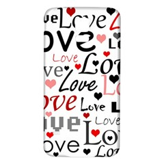 Love Pattern   Red Samsung Galaxy S5 Back Case (white) by Valentinaart