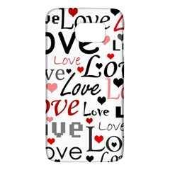 Love Pattern   Red Galaxy S6 by Valentinaart