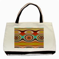 Oval Circle Patterns Basic Tote Bag by theunrulyartist