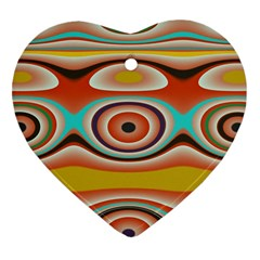 Oval Circle Patterns Heart Ornament (2 Sides) by theunrulyartist