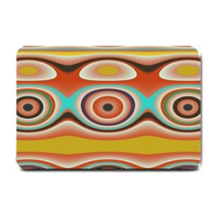 Oval Circle Patterns Small Doormat  by theunrulyartist