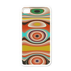 Oval Circle Patterns Apple Iphone 4 Case (white) by theunrulyartist