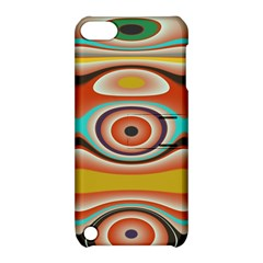 Oval Circle Patterns Apple Ipod Touch 5 Hardshell Case With Stand by theunrulyartist