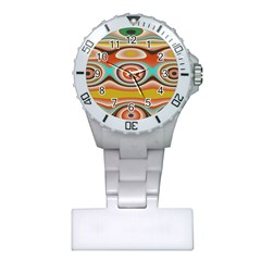 Oval Circle Patterns Plastic Nurses Watch by theunrulyartist
