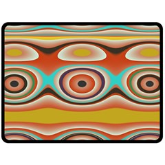 Oval Circle Patterns Double Sided Fleece Blanket (large)  by theunrulyartist