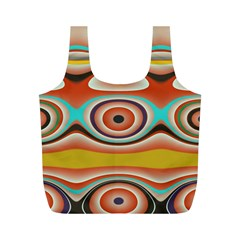 Oval Circle Patterns Full Print Recycle Bags (m)  by theunrulyartist