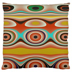 Oval Circle Patterns Standard Flano Cushion Case (one Side) by digitaldivadesigns