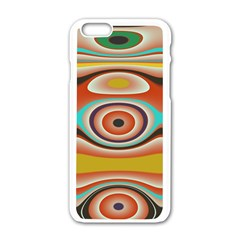 Oval Circle Patterns Apple Iphone 6/6s White Enamel Case by theunrulyartist