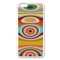 Oval Circle Patterns Apple Iphone 6 Plus/6s Plus Enamel White Case by digitaldivadesigns
