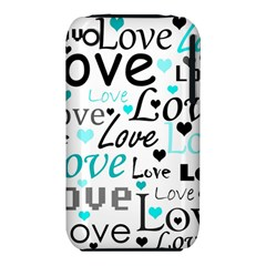 Love Pattern   Cyan Iphone 3s/3gs by Valentinaart