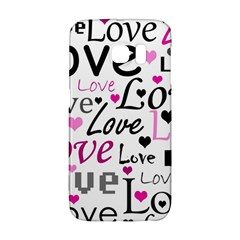 Love Pattern   Magenta Galaxy S6 Edge by Valentinaart