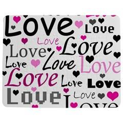 Love Pattern   Magenta Jigsaw Puzzle Photo Stand (rectangular) by Valentinaart